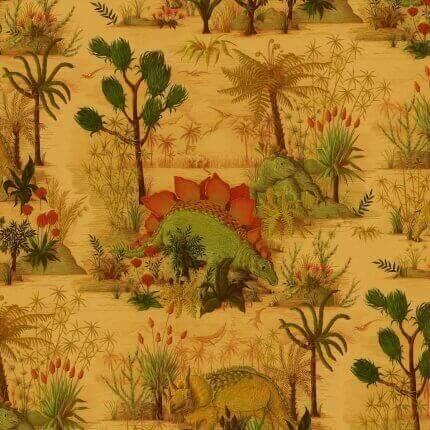 Papier peint Dinosauria House of Hackney Turmeric 1-WA-DIN-DI-TUR-XXX-004 House of Hackney