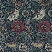 Tissu Bird & Anemone Forest/Indigo Morris and Co