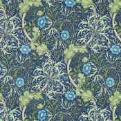 Tissu Morris Seaweed Cobalt/Thyme Morris and Co