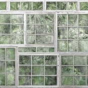 Panneau Perspective Jardin Green Rebel Walls