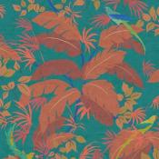 Papier peint Sur un Arbre Perché Turquoise Nobilis