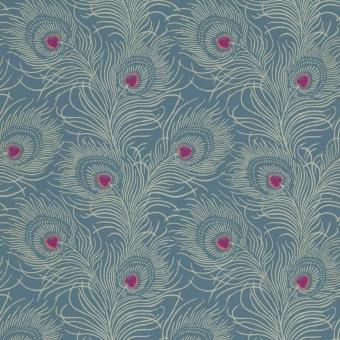 Papier peint Carlton House Terrace Blue Plume Little Greene