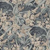 Tissu Trumpet Flowers Indigo/Stone GP & J Baker