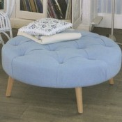 Repose-pieds Button Repose-pieds large rond Designers Guild