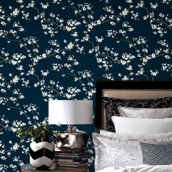 Branches Wallpaper Azalea York Wallcoverings