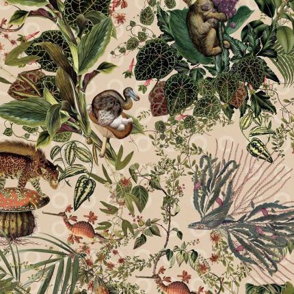 Revêtement mural Menagerie of Extinct Animals Arte  Ivory MO2072 Arte