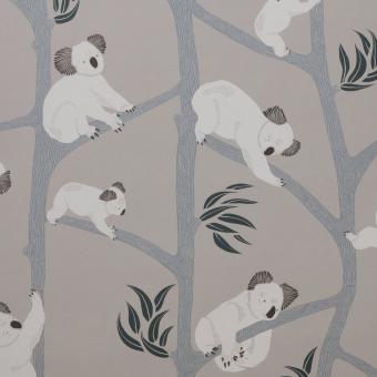 Koala Wallpaper Dark green Ferm Living