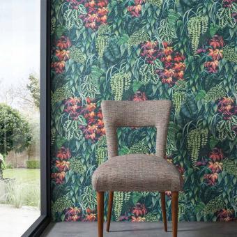 Green Wall Wallpaper Green Osborne and Little