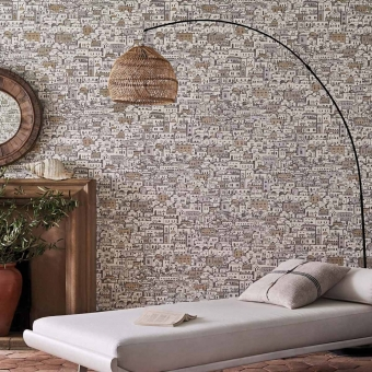 Mediterranea Wallpaper Blanc/Doré Cole and Son