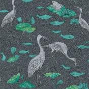 Papier Peint Enchanted River Blue and Green Au fil des Couleurs