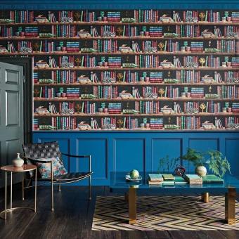 Libreria Fornasetti Wallpaper Multi Cole and Son