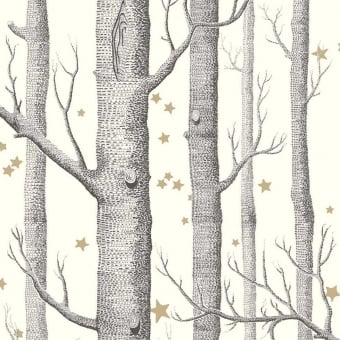 Papier peint Woods and Stars Black/White Cole and Son