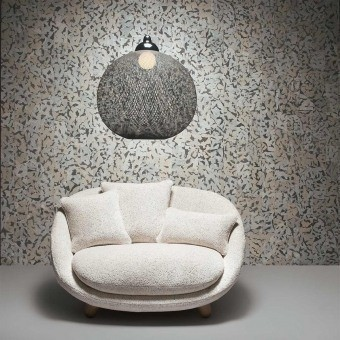 Armoured Boar Wallcovering Black/White Arte