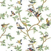 Papier peint Little Bird White Thibaut