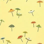 Papier peint Umbrella Blue Thibaut