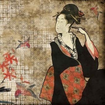 Panneau Geisha Graffiti Hikari Coordonné