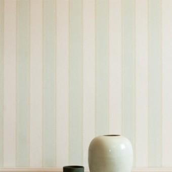 Papier peint Graycott Stripe Aqua/Green Colefax and Fowler