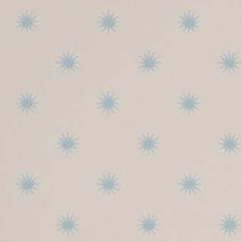 Papier peint Larissa Blue/Cream Colefax and Fowler