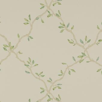 Papier peint Leaf Trellis Ivory/Green Colefax and Fowler