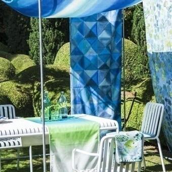 Tissu Bougival Outdoor Cobalt Designers Guild