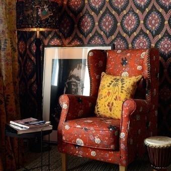 Gypsy Ochre Fabric Red/Blue/Yellow Mindthegap