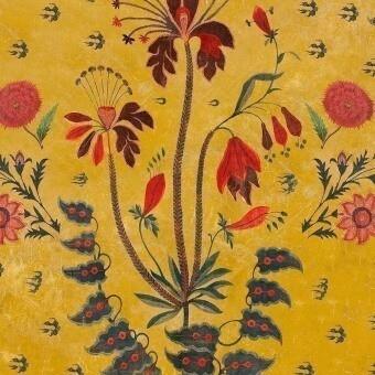 Tissu Gypsy Ochre Red/Blue/Yellow Mindthegap