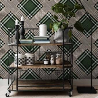 Checkered Patchwork Panel British Green Mindthegap