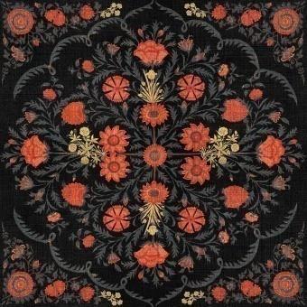 Hindu Bloom Panel Anthracite Mindthegap