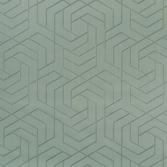 Papier peint Hexagon Trellis Celadon Osborne and Little