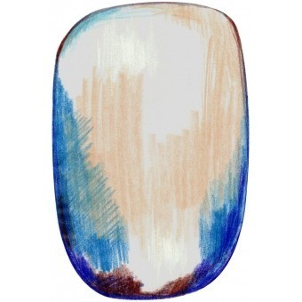 Tapis Scribble Blue Grey 200x300 cm MOOOI