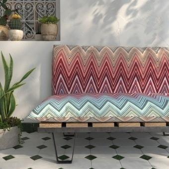 Tissu Kew MTC Outdoor Arancio Multicolor 2017 Missoni Home