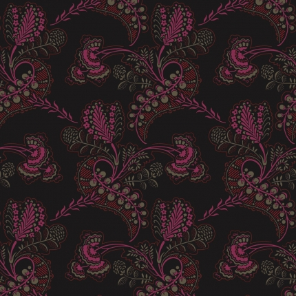 Papier peint Hartford Cole and Son Noir et fuchsia 88/4016 Cole and Son