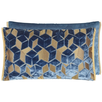 Fitzrovia Cushion Cerulean Designers Guild
