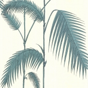 Papier peint Palm Leaves Bleu Ciel Cole and Son