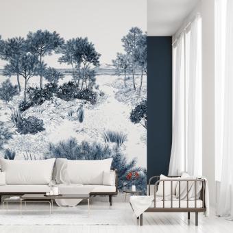 Dune Blue Panel 150x330 cm - 3 lés - côté droit Isidore Leroy