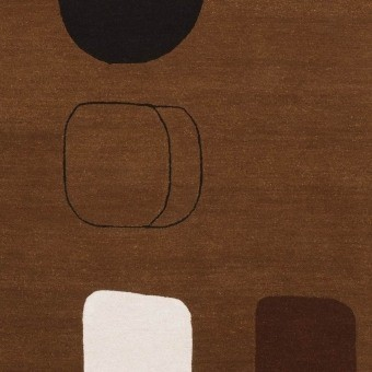 Tapis Permutation Brown Brown Christopher Farr