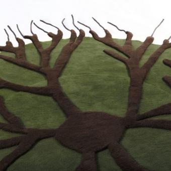 Tapis Roots Green Nodus