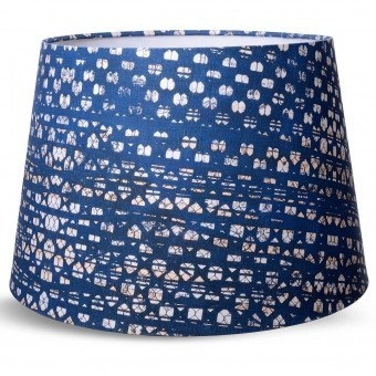 Blauw Lampshade cone d35xd25xh25 cm Mindthegap