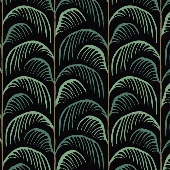 Papier peint Palm Leaves Dark Exotic Eijffinger
