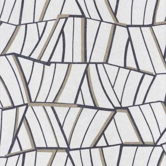 Papier peint Lalique Blanc Pétale Casamance
