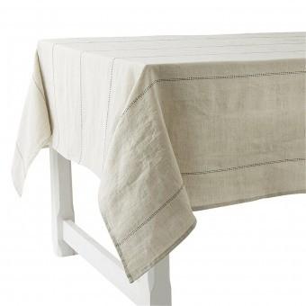 Rythmo Lin Tablecloth 180x230 Blanc Charvet Editions