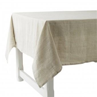 Rythmo Lin Tablecloth 180x280 Blanc Charvet Editions