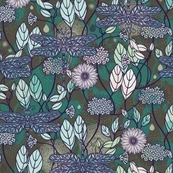 Floraison Panel Azur Etoffe.com x M.Cailloux