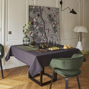 Slow Life 150x220 Tablecloth Argile Le Jacquard Français