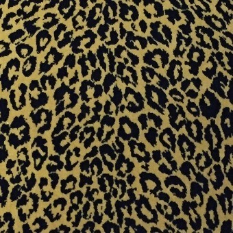 Leopard Velours Fabric Bleu Edmond Petit