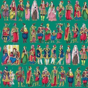 Costumes Orientaux Panel Greige Maison Images d'Epinal