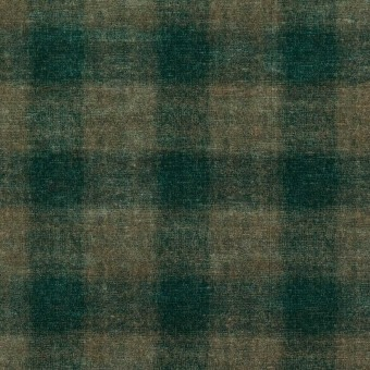 Velours Highland Check Emerald Mulberry