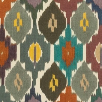 Tissu Town House Multi Mulberry