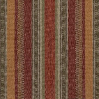 Tissu Rustic Stripe Red/Plum Mulberry