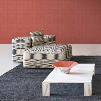 Canvas Wallpaper Beige Missoni Home